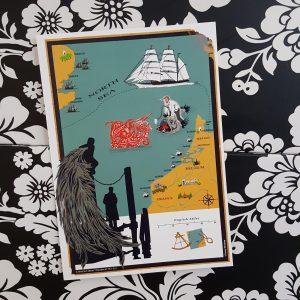 North Sea Map Postcard