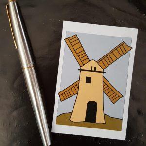 Windmill poster sticker