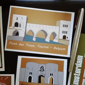 Pont des Trous, Tournai - Belgium sticker