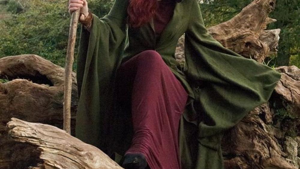Druid cloak Cradle of Gods book promotion