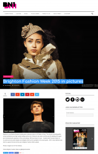 Screenshot of BN1 magazine article about Brighton Fashion Week