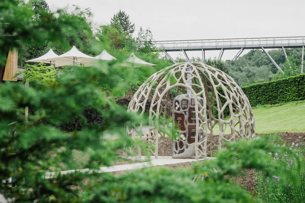 The Root Dome made from fabric formed concrete